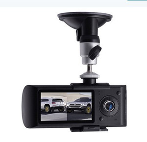 "R300 Dual Camera Car DVR с внешним GPS и 3D G-сенсором 2.7"" TFT LCD X3000 FHD 1080P Cam Video Camcorder Cycle Recording"