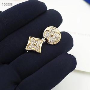 aretes de acero inoxidable pendientes de diamantes de flores pendientes diseñador de la marca de moda de lujo de diseño pendiente des Boucles d'oreilles 2020