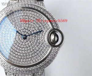 TW Fabrika Elmas BALLON BLEU DE Kadın İzle Bayanlar İzle İsviçre 157 Otomatik Mekanik Safir Kristal 18k platin Paslanmaz Çelik