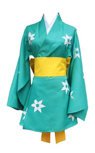 Bakemonogatari Araragi Tsukihi Cyan Dress Halloween Uniform Full Sets Cosplay Costume