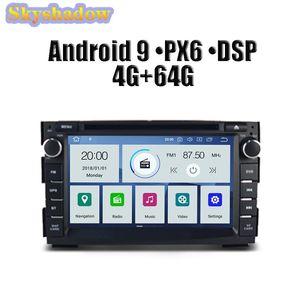 DSP Car DVD-Player PX6 IPS Android 9.0 4G + 64G GPS Karte Wifi DVR Kamera RDS-Radio Bluetooth für Kia Ceed 2009 2010 2011 2012