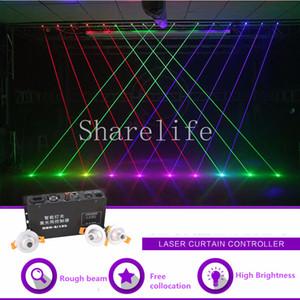 Sharelife Mini Colocación Libre Rojo Verde Azul Proyector Proyector Cortina láser Controlador DMX DJ Party Club Show Iluminación de escenario