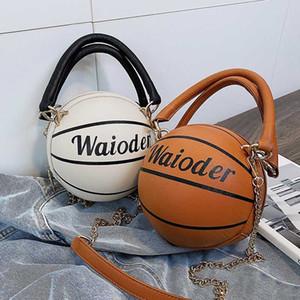 Basketbol Şekli Çantalar ve Kadın bayanlar 2020 Yeni Moda PU Deri Omuz Crossbody Çanta Zinciri Messenger Torbaları için Cüzdan