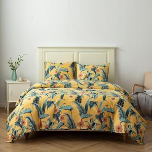 Rainforest Style Leaves Bedding Set Bed Decor Bedclothes Pillowcases US Twin Queen King Bed Linen Set Adults Duvet Cover