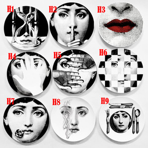 100% neue Marke 6inch Crafts Dekoration Keramikplatten Hauptdekoration Platten-Porzellan Wandbehang Art Plates