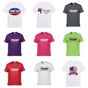 Mens Designer Trump camisetas Moda Mens Vestuário 2,020 Casual Verão Streetwear Camiseta Rivet Cotton Misture Crew Neck manga curta # C11 # 994