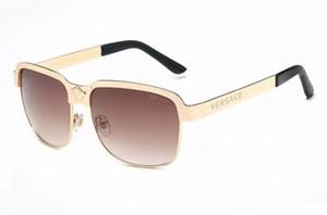 Óculos de metal das mulheres de verão de luxo adulto óculos de sol das senhoras da marca designer fashion black eyewear meninas condução óculos de sol 3876