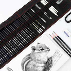 17 Kalem Çizimi Kalem Seti Boyama Karbon Kalem Aracı Kalem Perde Sanatı Öğrenci Öğrenme Tam Set SH190919 Suits Malzemeleri
