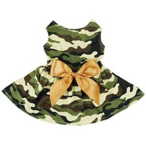 Top-Fashion Army Camo verde Pet roupas para cachorros Roupa Camouflage camisa Vest Confortável Roupa Código M