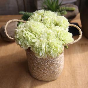 Las flores de seda artificial del Peony de la flor de Rose Ramos falso Inicio decorativo flor de la boda decoraciones de 5PCS 1 porción Envío libre YW3444