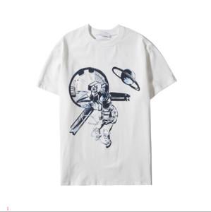 Marka Tişört Astronaut ile Erkekler Kadınlar 2020 Yaz Tasarımcı Gömlekler 2 Renkler Asya Boyut S-2XL Toptan DA20113 Moda Tee yazdır için