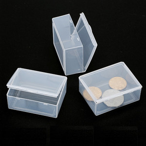 Plastic Storage Boxes Small Hardware Piece Transparent Collection Case Holder Container Packing Box for Jewelry WB2193