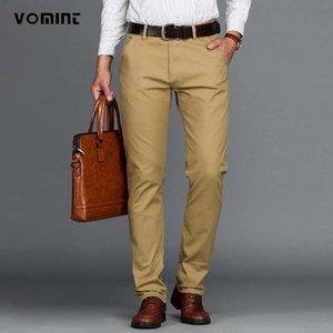 VOMINT nuovo arrivo Mens casuale di affari della mutanda pantaloni di stirata regolare Etero Pant Nero Blu Khaki Big Size 42 44 46 tuta da lavoro
