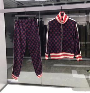 디자이너 럭셔리 남성 땀 정장 r 브랜드 남성 운동복 세트 조깅 재킷 + 바지 스포츠 힙합 스웨터