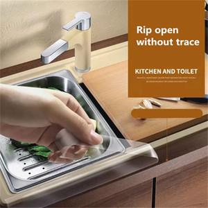 Home Improvement 0.8mm Kitchen Sink Waterproof Mildew Strong Self-adhesive Transparent Tape Bathroom Bathroom Gap Strip Pool Water Seal