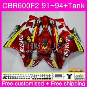 Bodys For HONDA CBR 600F2 CBR 600 F2 FS 91 92 93 94 Movistar red 76HM.18 CBR600 F2 CBR600FS CBR600RR CBR600F2 1991 1992 1993 1994 Fairing