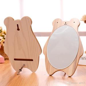 La princesa preciosa Espejo Creative Desktop Vestir regalo del espejo Llevar Elipse madera Maquillaje Estudiante dos colores 6 3sjC1