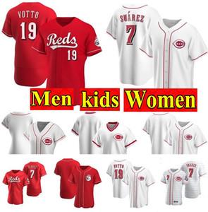 Cincinnati 2020 Red Aristides Aquino Jersey Joey Votto Raisel Iglesias Jesse Winker Eugenio Suarez Johnny Bench maglie Scott Schebler