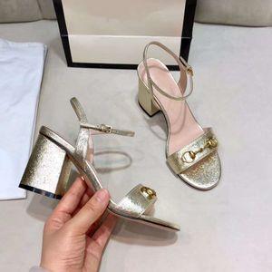 Luxe hauts talons sandales en cuir design marque sandales femmes talons or noir taille de l'été 34 à 41
