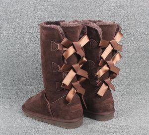 mit Box EU35 auf 42 bis 46 tradingbear cowskin echtes Leder Australien Schneeschuhe Pelzstiefel bowknot Bohrer Schneeschuh-