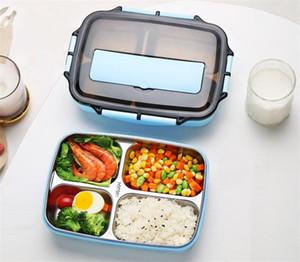 Aço Inoxidável 304 Lunch Box New japonês Estilo Compartimento Bento Box Kitchen Leakproof Food Container Para Enviar Louça