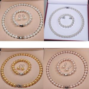 높은 품질의 천연 쉘 비즈 여성 신부 목걸이 팔찌 귀걸이 웨딩 보석 5 스타일 선택
