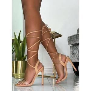 Venda quente-2019 Novo PVC Mulheres Salto Alto Sexy Limpar Transparente Tira No Tornozelo Sandálias Do Partido Rendas Mulheres Sapatos escarpins femme