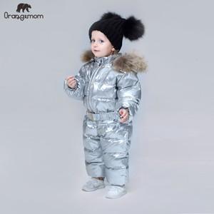 Orangemom 브랜드 2019 겨울 아기 코트 여자를위한 재킷 아이 소년 점프 수트 멋진 snowsuits V191128 아래로 아동 의류 오리 옷
