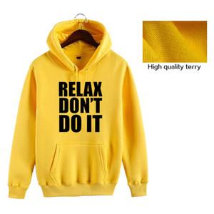 Moda 2020 nova primavera dos homens hoodies camisolas Relaxe letra impressa não fazê-lo manga comprida Hoodies