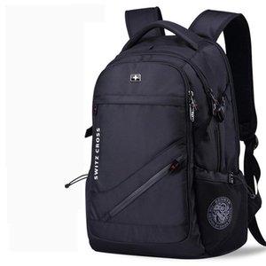Swiss Мужской антикражного Рюкзак USB ноутбуки Школа Сумка водонепроницаемый Бизнес 15.6 17-дюймовый ноутбук рюкзак женщин