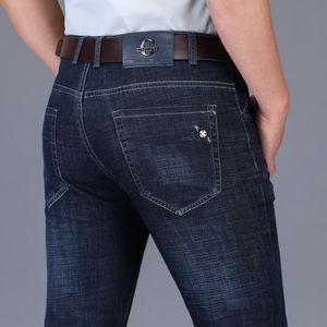 Men'S Jeans Spring Summer Thin Straight Long Jeans Biker Causal Classic Business Masculina Cotton Denim Pants Men Brand Clothing