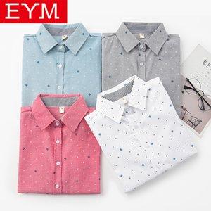 EYM blusa mulher 2020 Primavera New Imprimir Casual camisa de manga comprida Mulheres fresco College Style Blusas Tops Senhora Roupa Blusas