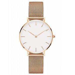 2020 En lüks Daniel kadın 32MM 36mm erkekler Aşıklar kadınlar çelik hasır altın erkek marka saatler dw Wellington moda femme Relojes Montre