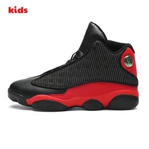 13s bon marché pour enfants chaussures bas de basket-ball orange noir garçons en terre cuite rouge filles Enfants Jeunes J13 de Jumpman 13 XIII baskets bébé bottes