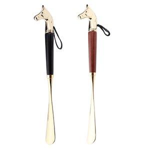 Chausse-pied métallique Poignée longue Remover Chausse poche durable 32cm Shoeshorn