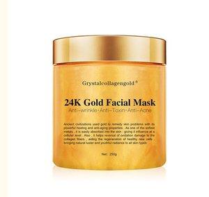 Facciale Face Mask EPACK Grystal dell'oro del collageno della donna 24K collagene Peel Off facciale Face Mask idratazione della pelle Rassodante Drop Shipping