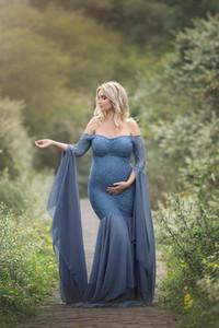 Annelik Fotoğraf Sahne Elbiseler Hamile Kadınlar Için Giysi Dantel Annelik Elbiseleri Fotoğraf Çekimi Gebelik Giyim Için