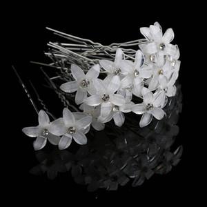 20pcs cristal strass fleur épingle à cheveux clips femmes de mariage cheveux spirale épingles à cheveux bijoux de mode en gros