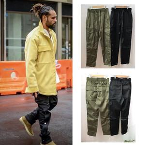 Pantalones de moda de lujo Estados Hip-hop Pantalones de niebla Calle lateral Hebilla Cremallera Abridor de horquillas Puede estilo Miedo de Dios Monos Pantalones de chándal de diseñador