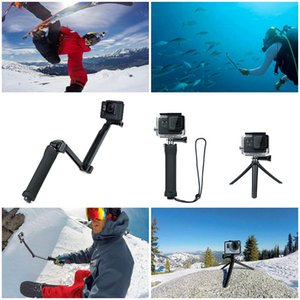 Câmera impermeável selfie Vara Sports Para GoPro herói 7 6 5 Sessão Preto Xiaomi Yi 4K Sjcam Sj4000 Eken H9 Sports Camera Acessório