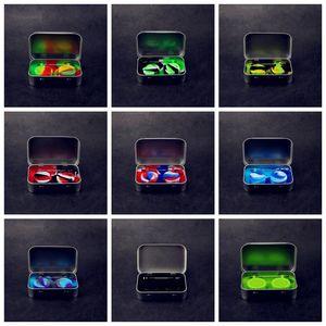 Силиконовые Kit Комплект с 1шт коробка 2pcs Олово 5ml Силиконовые Dab Контейнеры для воска мазки банки и серебро Dabber инструмент