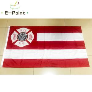 New York İtfaiye FDNY Bayrak 3 * 5ft (90 cm * 150 cm) Polyester bayrak Banner dekorasyon uçan ev bahçe bayrağı Şenlikli hediyeler