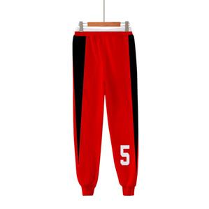 Animado Haikyuu Nekoma Secundaria 3D Print Joggers Pantalones Hombre mujeres divertidas de pantalón Fitness Deportivo flojo Hip Hop Pantalones Cosplay