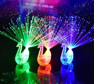 hot Luminous peacock finger lights color changing children luminous ring toy party concert atmosphere light lamp