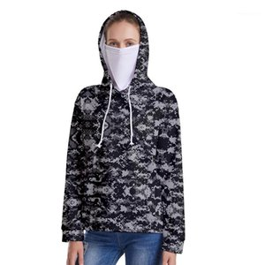 Collar Hooded Pullover Hoodies Women Outdoor Clothing 3D Camouflage Customized Hoodies Casual Loose Long Sleeve Stand
