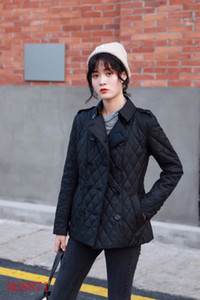 Ms. cotton-paded clothes Slim paded quilted coat solid color double-breasted plist Slim 2019 new ladies winter clothing FJAKJF