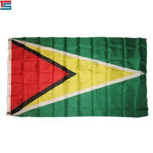 Impressão digital Guiana Bandeira 90x150 cm Poliéster Nacional Bandeira Da Bandeira Do País com dois ilhós
