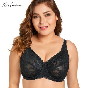 Delimira Figura completa de encaje transparente para mujer Sin forro Minimizer Bra J190705