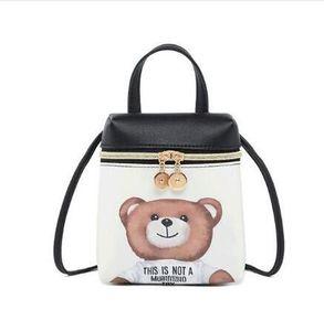 Miúdos dos desenhos animados Sacos Do Mensageiro Cross Body Bag Designer De Couro PU Mini Pequeno Urso Meninas Bolsa de Ombro Bolsas das Crianças