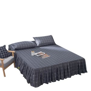 Ruffled Bed skirt Bedcover Printed Fitted Sheet Cover Bedspread Bedroom Bedsheets Home Textile Skirt Full Queen King Bed spread